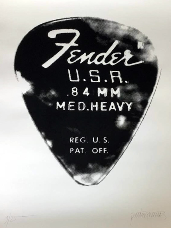 Plectron medium Fender: Siebdruck