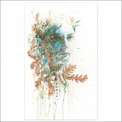Listening to the oak by Carne Griffiths
